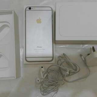 99%行貨,銀白色IPhone 6 plus 16gb ZP openline Fullset全套