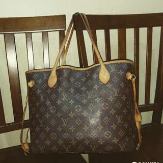 Shoulder Bag Monogram Canvas Louis Vuitton Neverfull