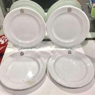 Vintage Set of 4 Navy Army & Air Force Institute Plates (NA.AF.I) for sale