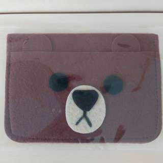 Line Brown Name Card Holder