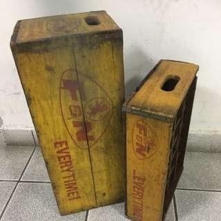 Vintage FnN wooden crate