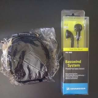 Senneheiser mx 460 earphones basswind system (for iphone)