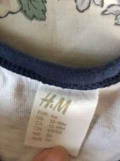 H&M bodysuit (12-18m)