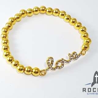 """Gold """"Love"""" Bracelet *Blessing"""