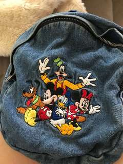 Vintage Mickey Mouse Denim Bag