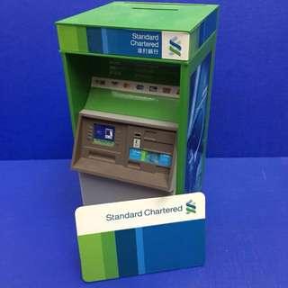 渣打銀行提款機儲蓄錢箱