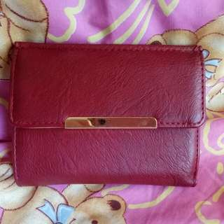 Trifold Red Wallet