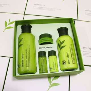 Innisfree Green Tea Balancing Skin Care Special Set (Retail Price RM149)
