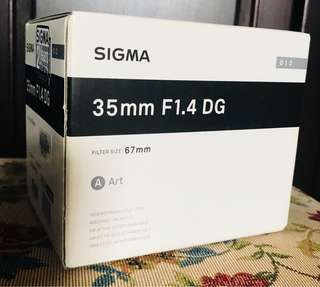 Sigma 35mm F1.4 DG Box