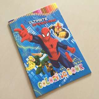$1.20 ++ Spiderman coloring book