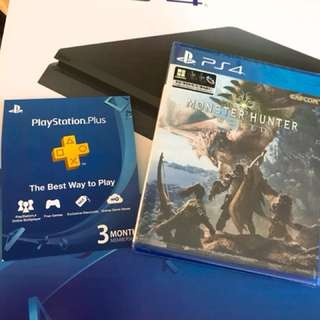 Ps4 Slim 500Gb with monster hunter r3