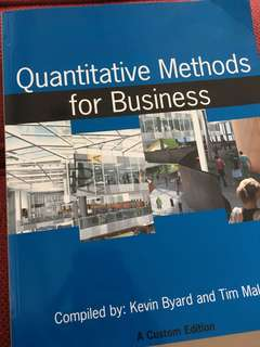 Quantitative Method for Business