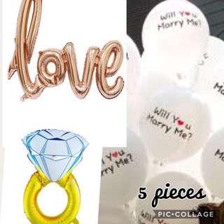 Proposal balloon set promo!