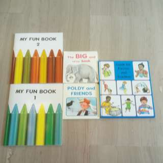Pre school books, 5 for $6