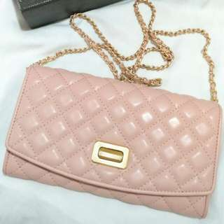 BRAND NEW! Charles & Keith sling purse (pink)