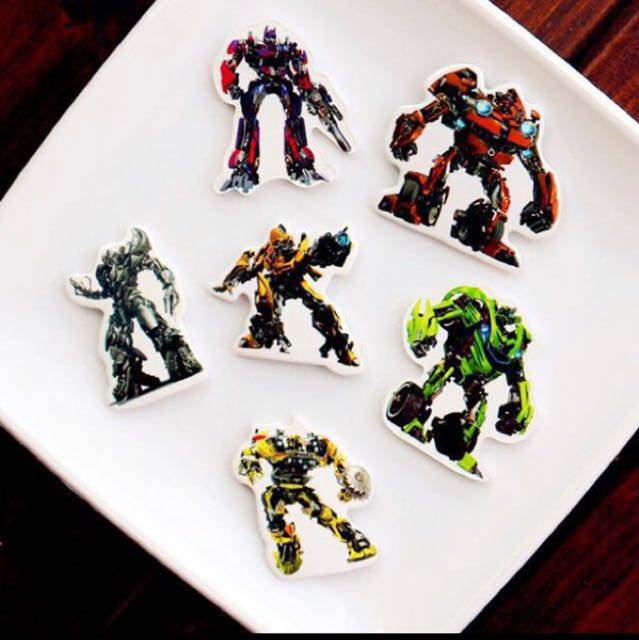 12 Pcs Transformers Robot Cupcake Toppers Cake Topper Muffin Decoration Baking Picks Birthday Party Toys Games Bricks Figurines On Carousell