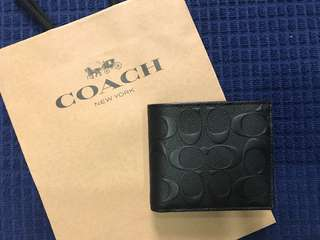 Coach Compact Sig Men's Wallet