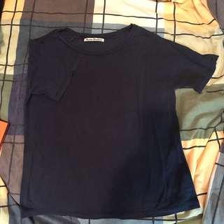 Acne Studios Navy Loose t-shirt size XS, Rag&Bone