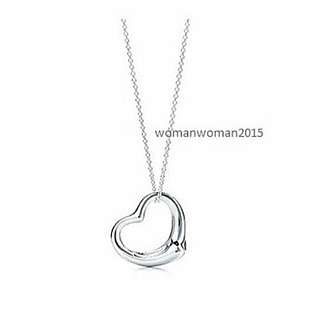 White gold plated heart necklace 1