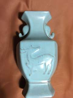 Ru kiln porcelain vase sky blue Color made in Song Era . Authentic n fine Song Era Artwork. Offer above 3000 secured for this promotion period.