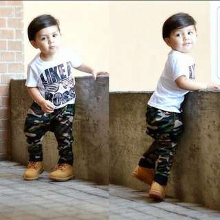 ❤INSTOCK❤ Ethan's Boy Top with Camo Pants