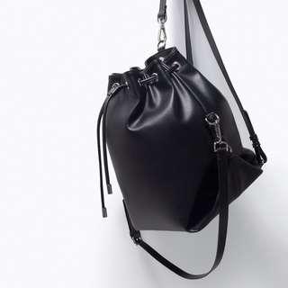 Zara Trafaluc Black Bucket Bag