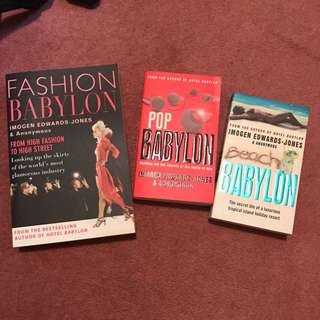 Fashion Babylon Pop Babylon and Beach Babylon books by Imogen Edward Jones