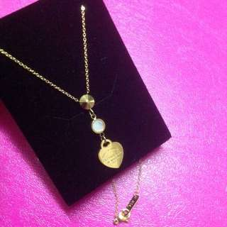 14K Gold Stainless Tiffany Necklace