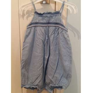 H&M Girl overall suit - 12/24m