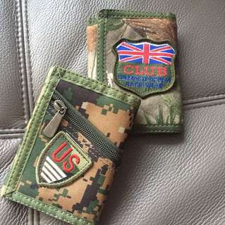 2 Green wallets