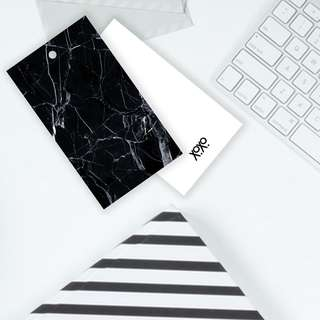 Black Marble Tile Pattern Gift Tag Card