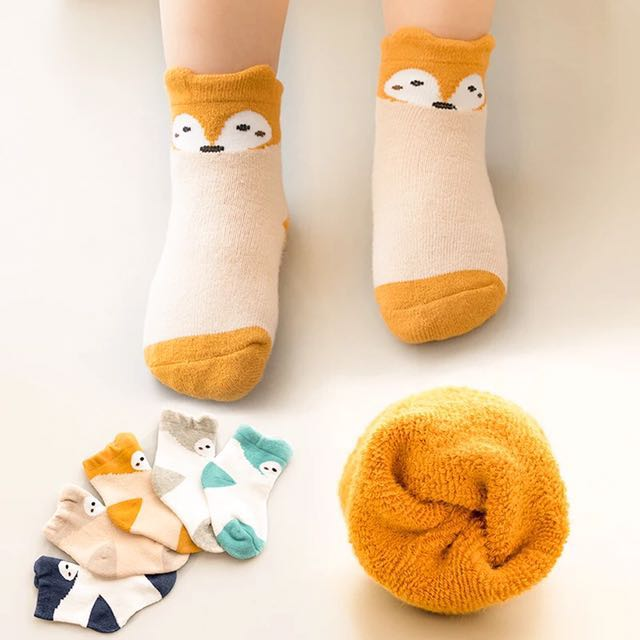 狐狸寶寶厚襪子1-3歲穿10-12cm 5色
