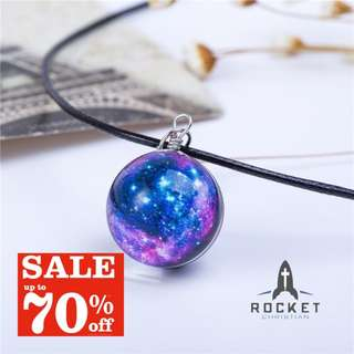 Purple Galaxy Crystal Ball Necklace *Blessing