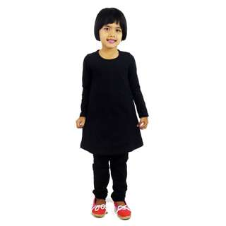 Kids Plain Layer Top- Black (ak261c)