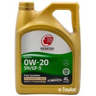 Idemitsu SN/GF-5 Fully Synthetic Engine Oil (0W-20)