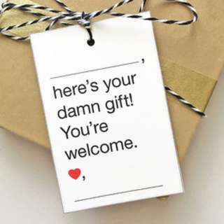 Personalized your own gift tag label prints