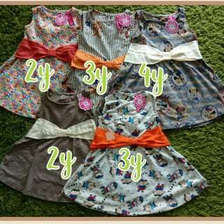 Rp100.000,-/ 3pcs - Dress Umbrella Flower Kids Size 2 - 5 Th