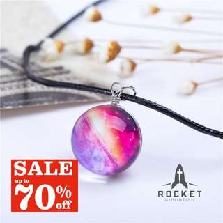 Sunset Galaxy Crystal Ball Necklace *Blessing