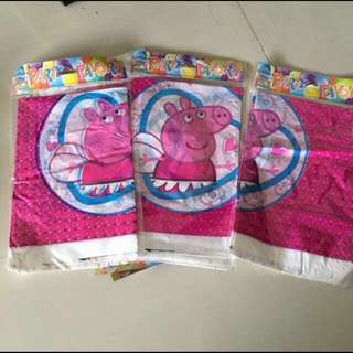 $3 peppa George table cloth for birthday party