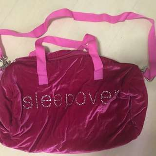 Pink brand new sleepover bag bought from Rustan's Department Store