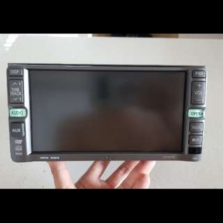 Used 2-din player taken from toyota wish.