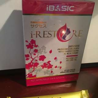 i-RESTORE POWDERED DRINK WITH PREMIUM COLLAGEN & GLUTATHIONE & ACAI BERRY