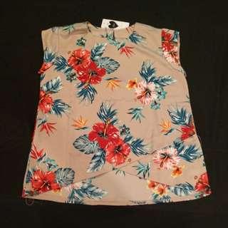 Baju atasan santai bunga keren