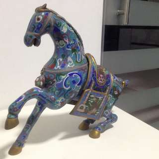 Chinese Cloisonné Horse