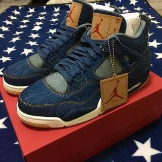 🚚 NIKE JORDAN 4 RETRO LEVI'S 四代 聯名 籃球鞋 US10