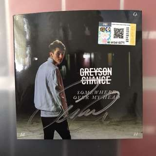 Greyson Chance Signed Somewhere Over My Head EP