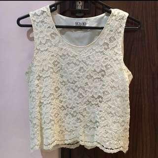 Off white sleeveless