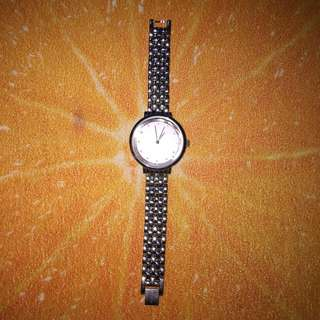 Women's Stainless Steel Analog Watch (needs battery replacement)