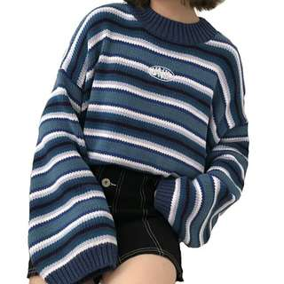 (PO) Fifty Shades Of Blue Pullover Knitted Top