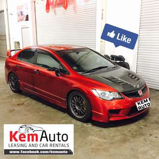 RARE Candy Red HONDA CIVIC 2.0L Manual FD2M with FD2R bodykit / BremBo BBK / Hondata Tuned / Api Coilover / Type R sports seats